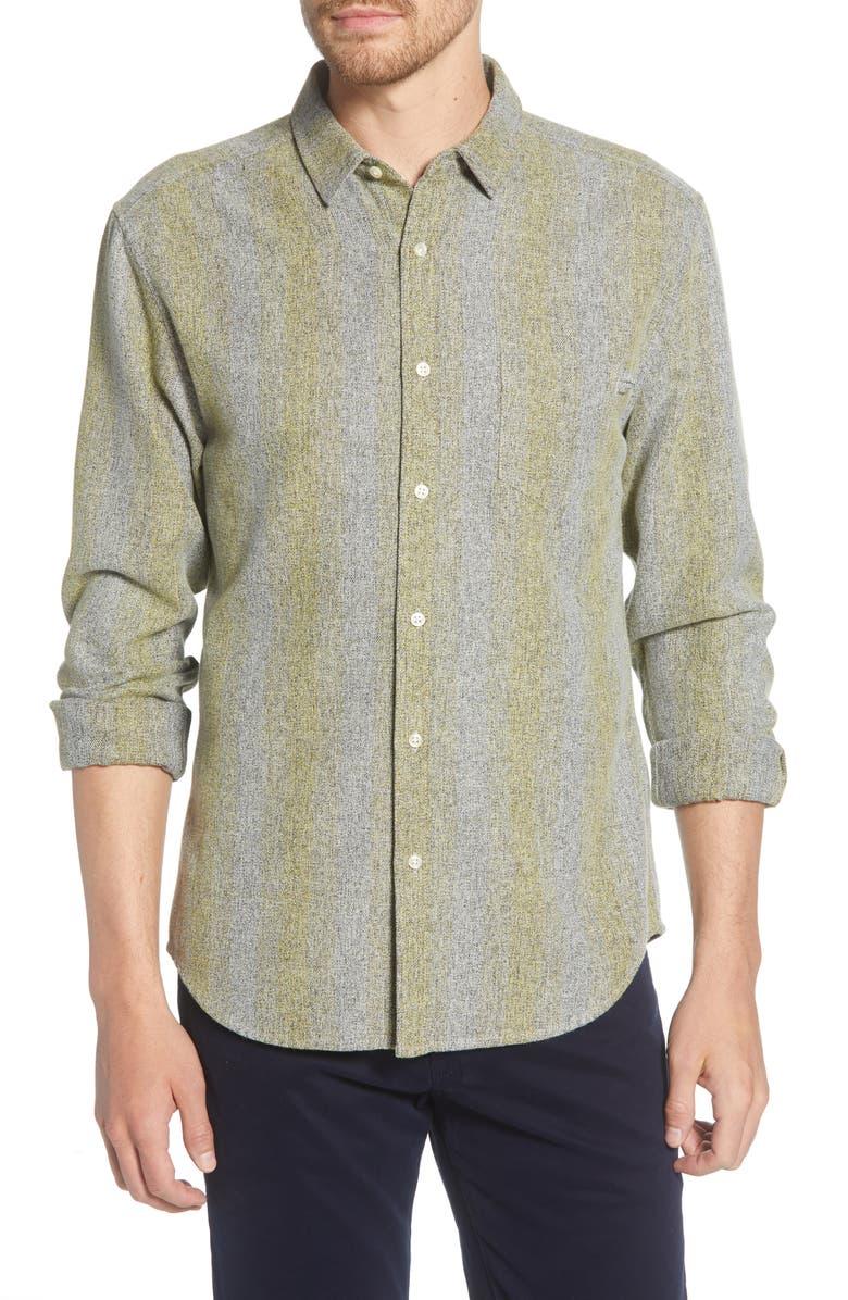 LIFE/AFTER/DENIM Grimm Stripe Flannel Button-Up Shirt, Main, color, 330