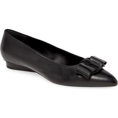 Salvatore Ferragamo Viva Bow Ballet Flat - Black