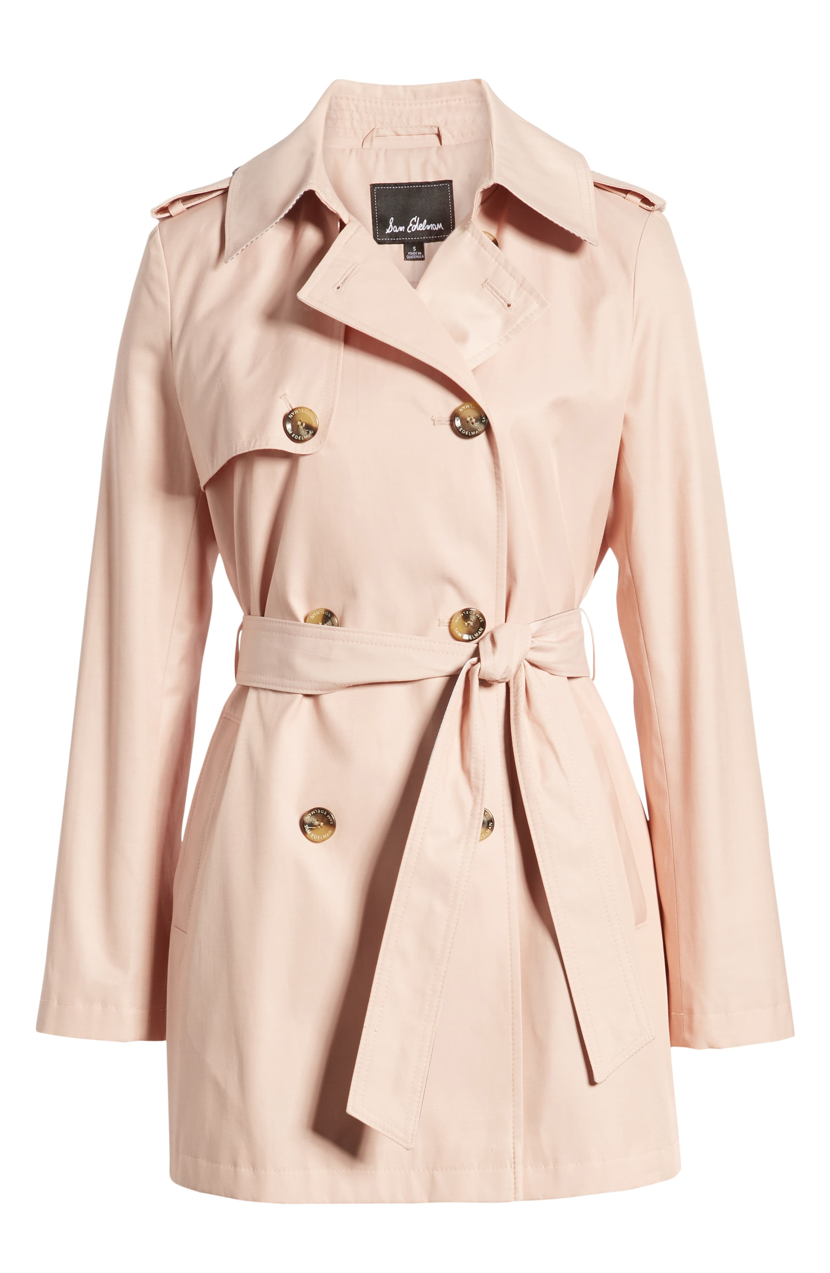 ,                             Water Resistant Trench Coat,                             Alternate thumbnail 7, color,                             BLUSH