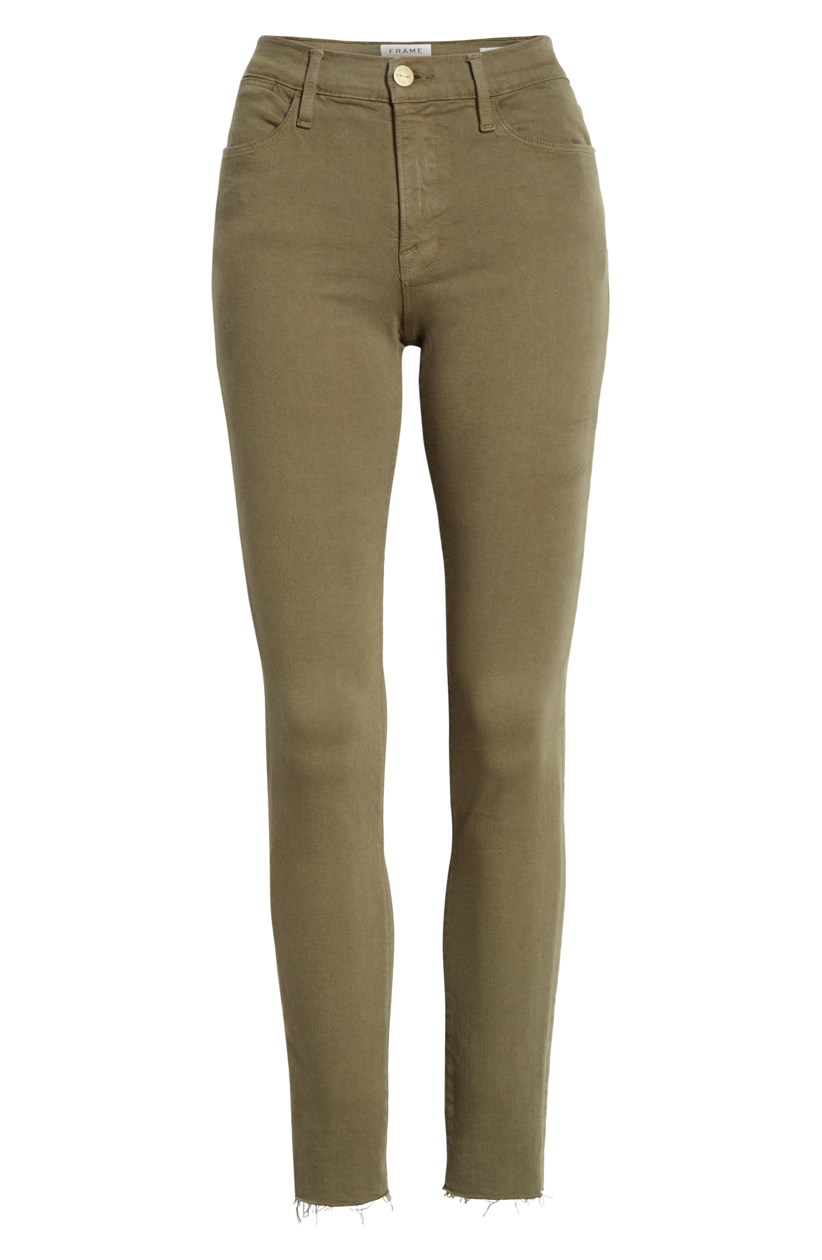 ,                             Le High Raw Hem Ankle Skinny Jeans,                             Alternate thumbnail 19, color,                             301