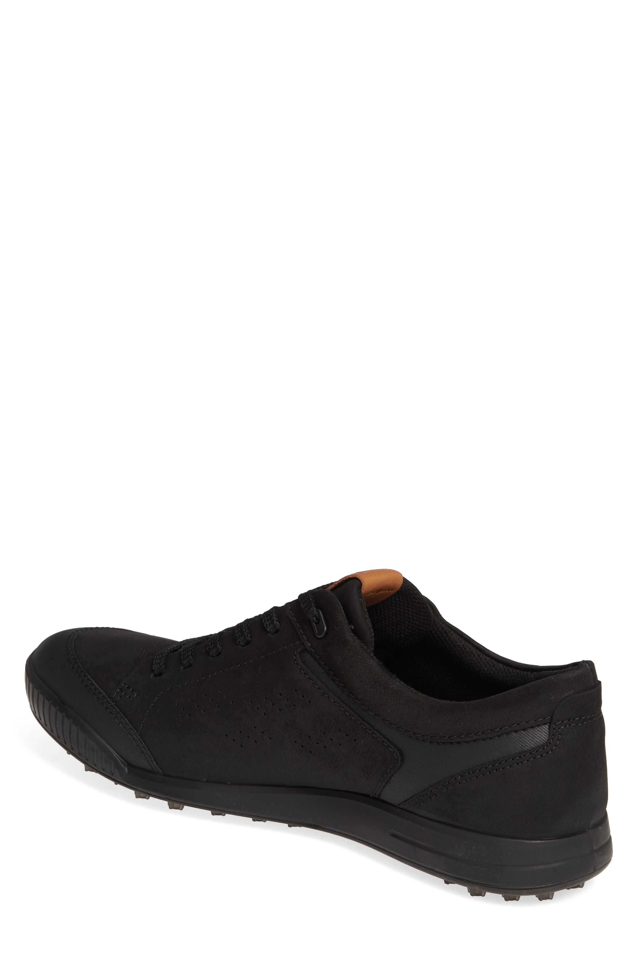 ,                             Street Retro LX Golf Shoe,                             Alternate thumbnail 2, color,                             BLACK LEATHER