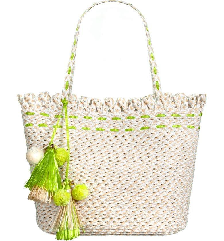 ERIC JAVITS Bardot Squishee<sup>®</sup> Tote, Main, color, WHITE MIX