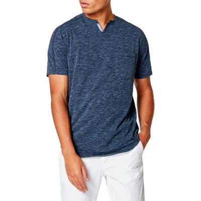 Good Man Brand Victory Slim Fit Notch Neck T-Shirt, Blue
