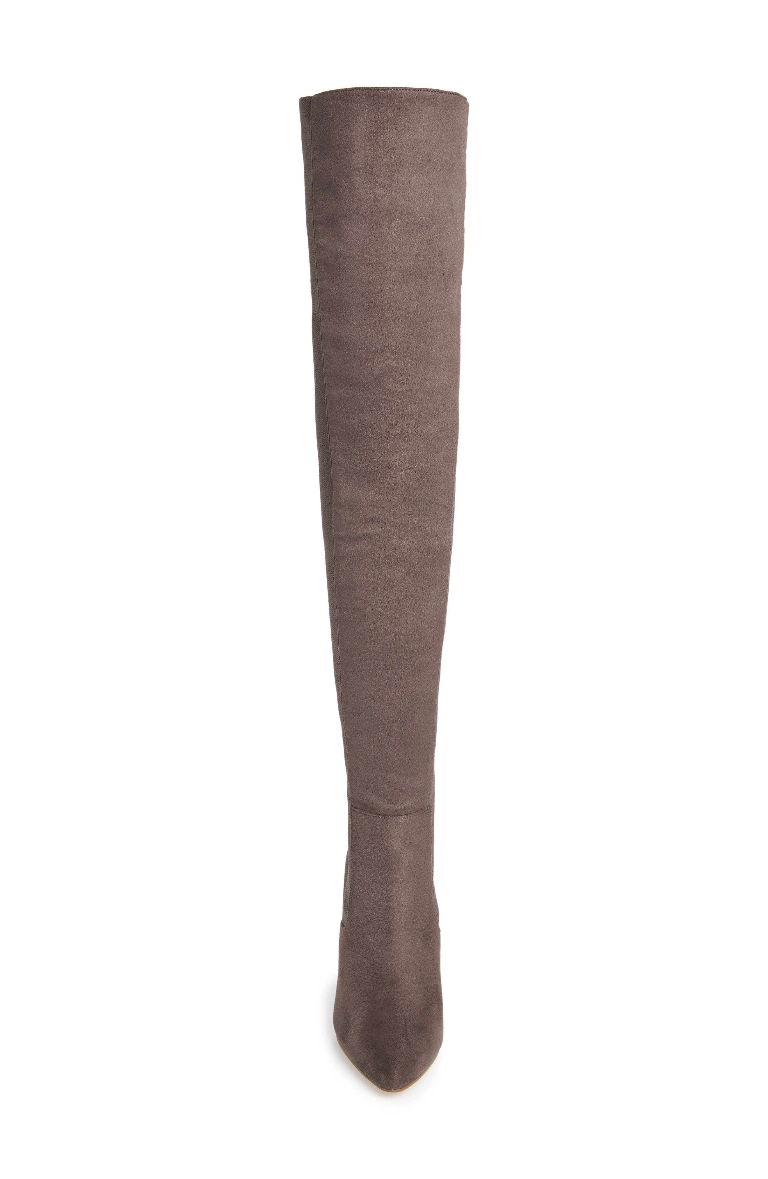 ,                             Essence Over the Knee Stretch Boot,                             Alternate thumbnail 4, color,                             GREY