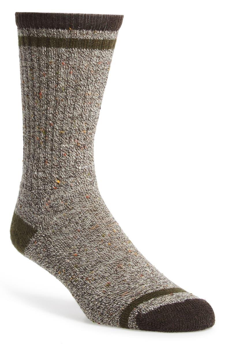 SMARTWOOL 'Larimer' Crew Socks, Main, color, CHESTNUT
