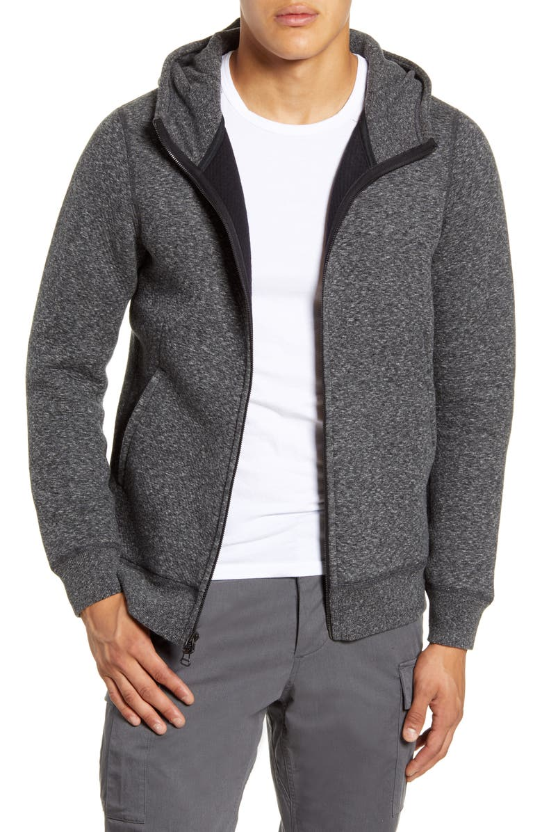 WINGS + HORNS Cabin Fleece Jacket, Main, color, M. BLACK