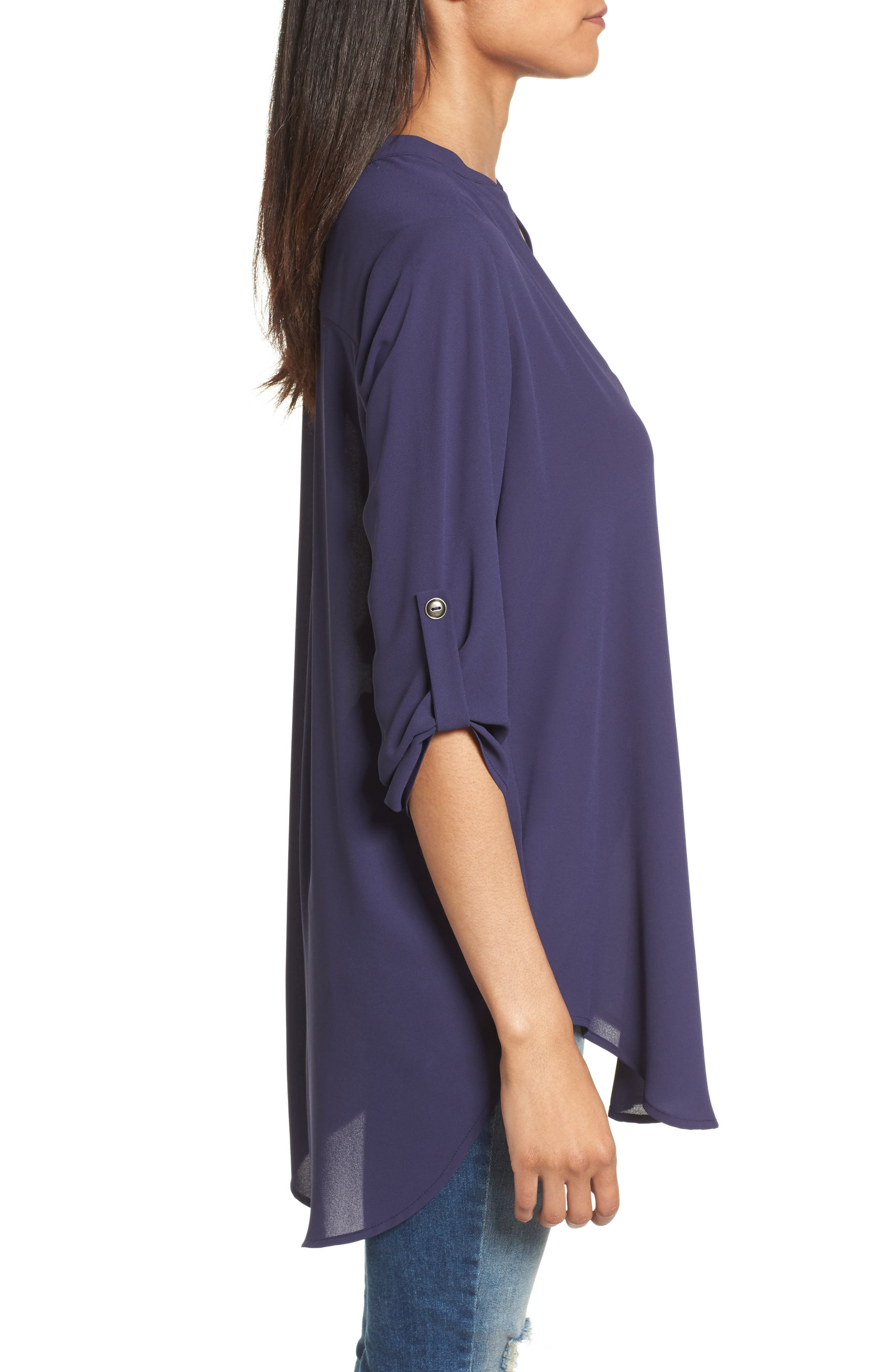 ,                             Perfect Roll Tab Sleeve Tunic,                             Alternate thumbnail 275, color,                             407