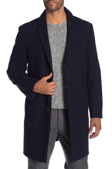 Image of Hart Schaffner Marx Hanover Wool Blend Topcoat