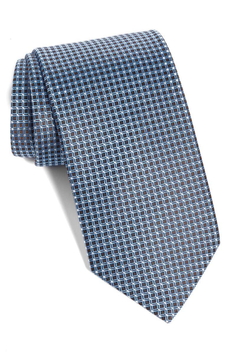 ETON Geometric Silk Tie, Main, color, 405