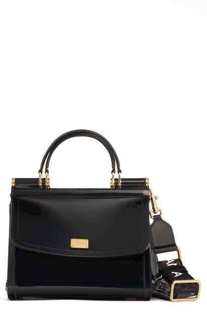 Dolce & Gabbana Small Miss Sicily Translucent Satchel - Black In Nero
