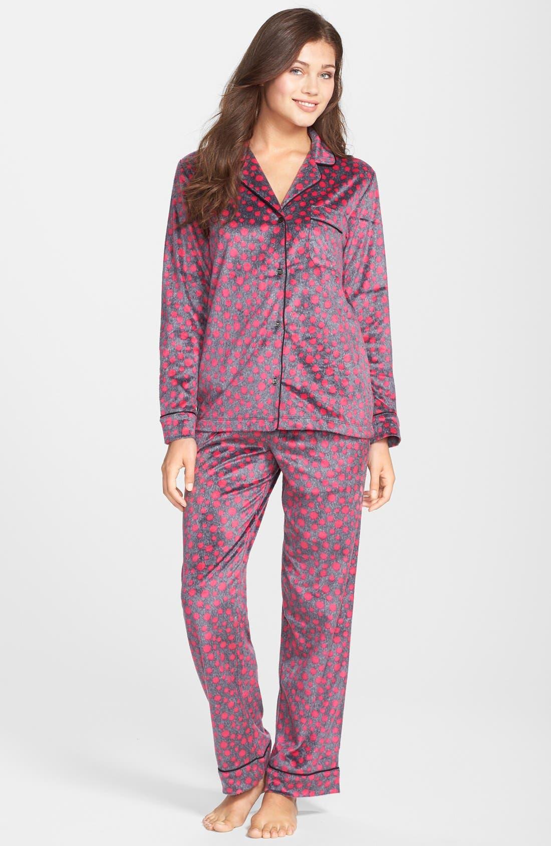 ,                             Long Sleeve Microfleece Pajamas,                             Alternate thumbnail 44, color,                             651