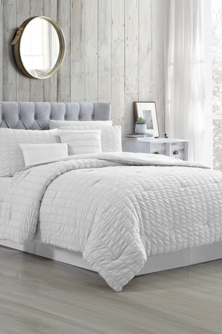 Image of Modern Threads 5-Piece Seersucker Comforter Set - Kane White - King