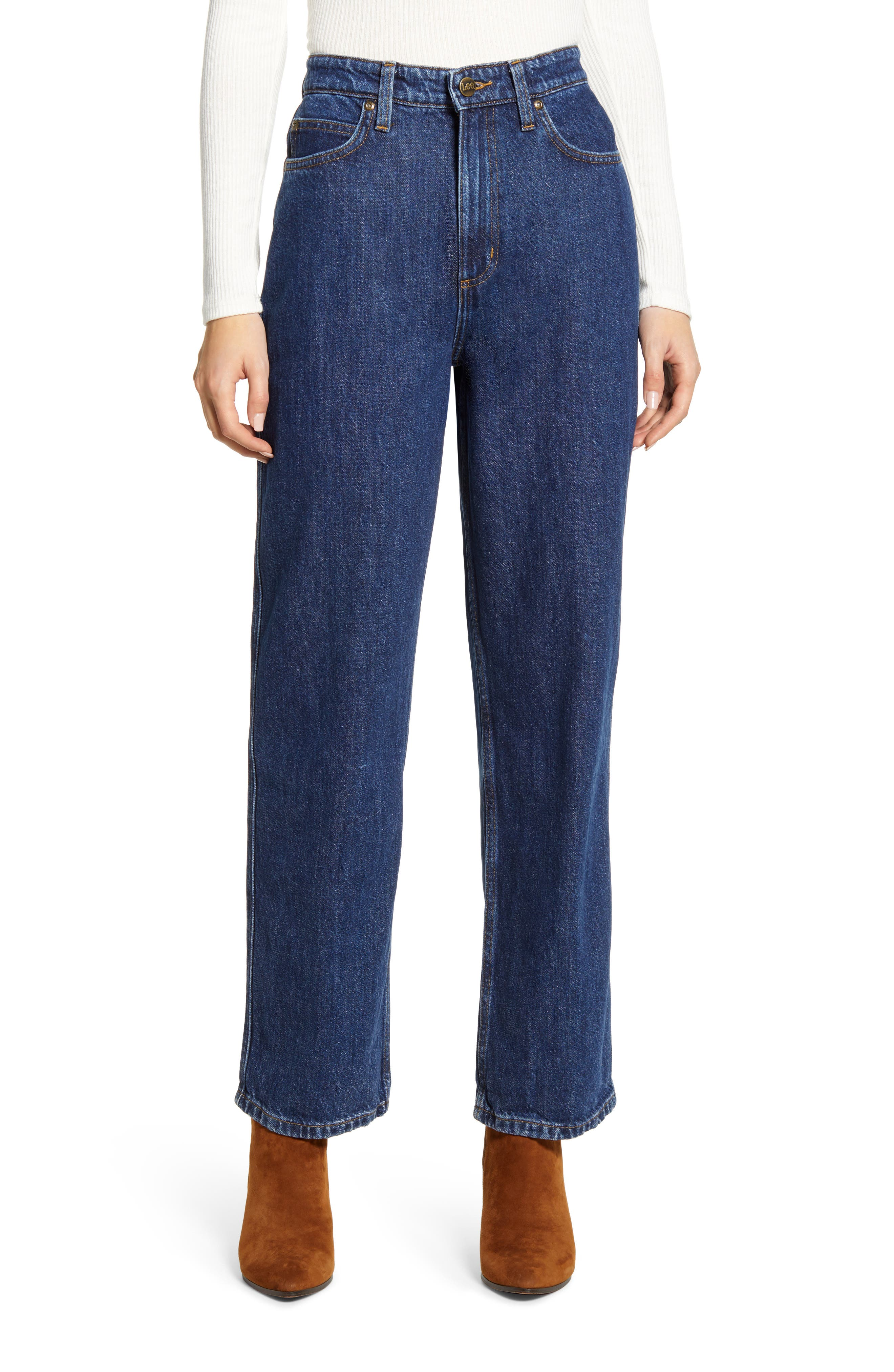 High Waist Relaxed Stovepipe Jeans