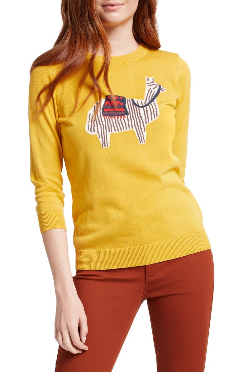MODCLOTH Llama Intarsia Sweater, Main, color, 700