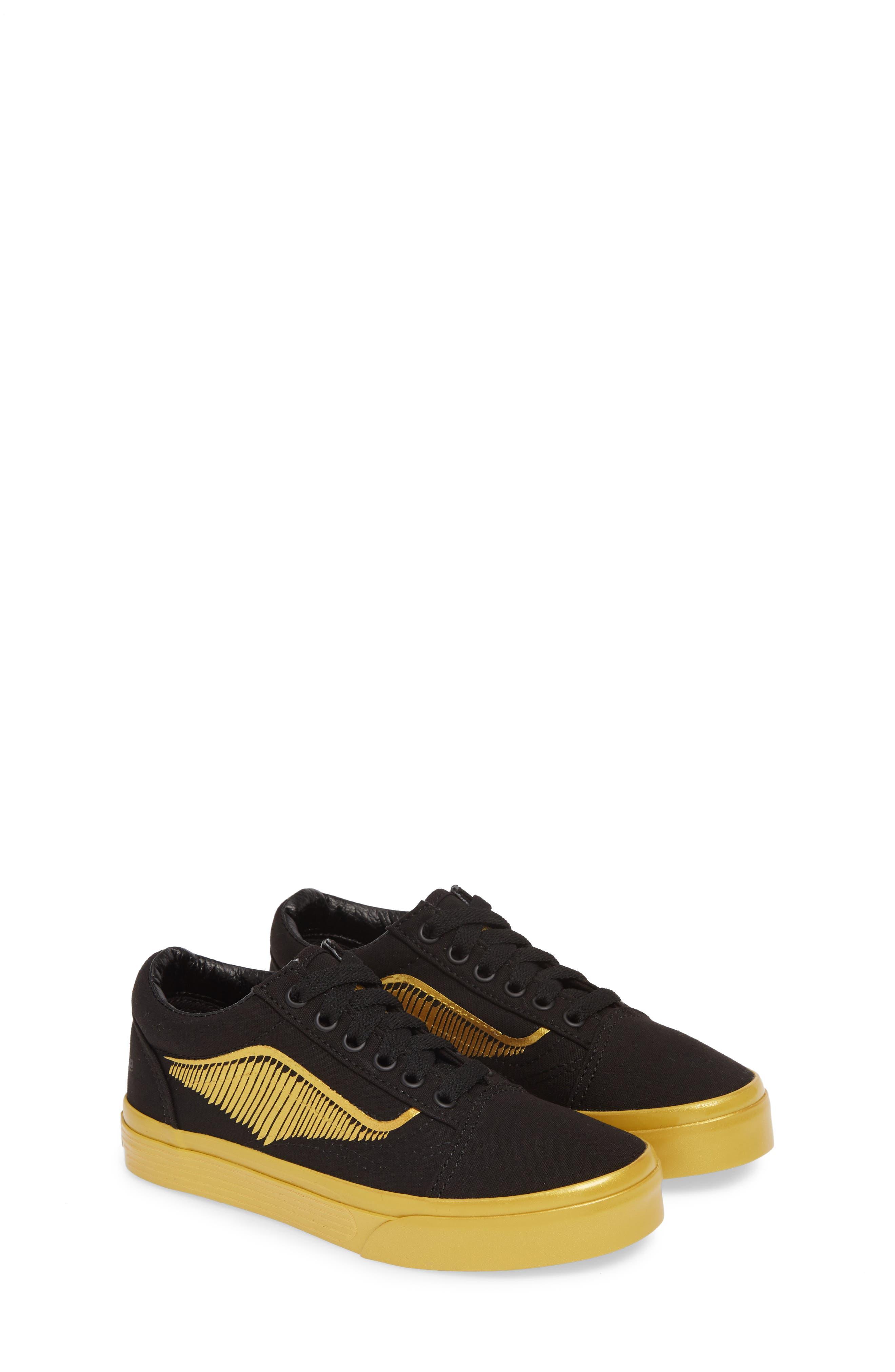 Toddler Vans X Harry Potter Old Skool Sneaker Size 2 M  Black