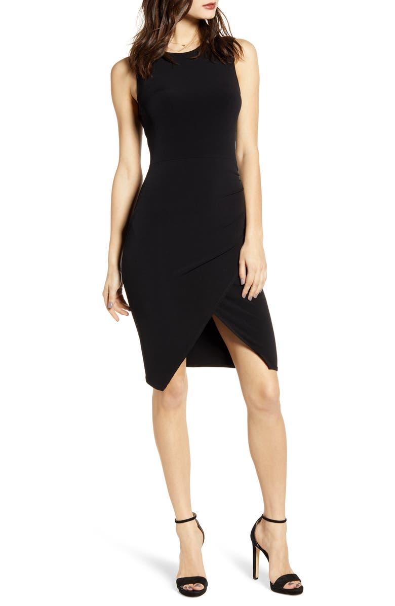LEITH Sleeveless Body-Con Dress, Main, color, BLACK