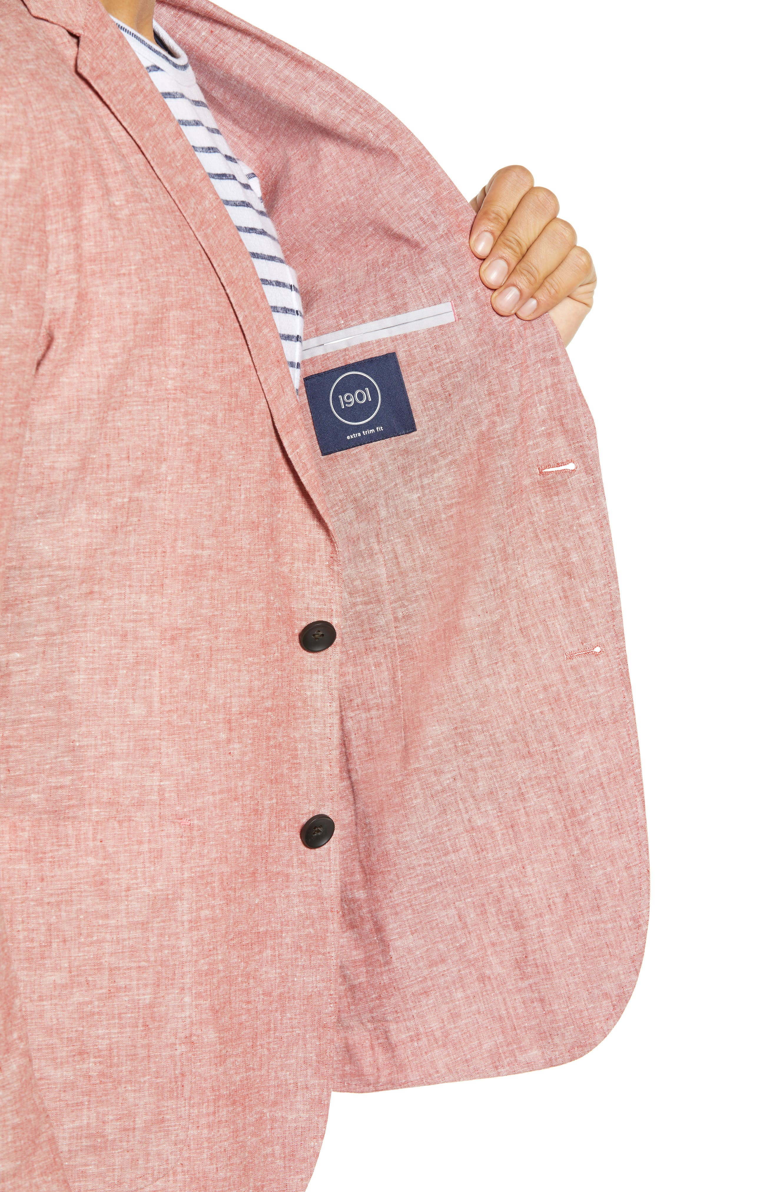 ,                             Extra Trim Fit Chambray Sport Coat,                             Alternate thumbnail 5, color,                             RED BARN CHAMBRAY