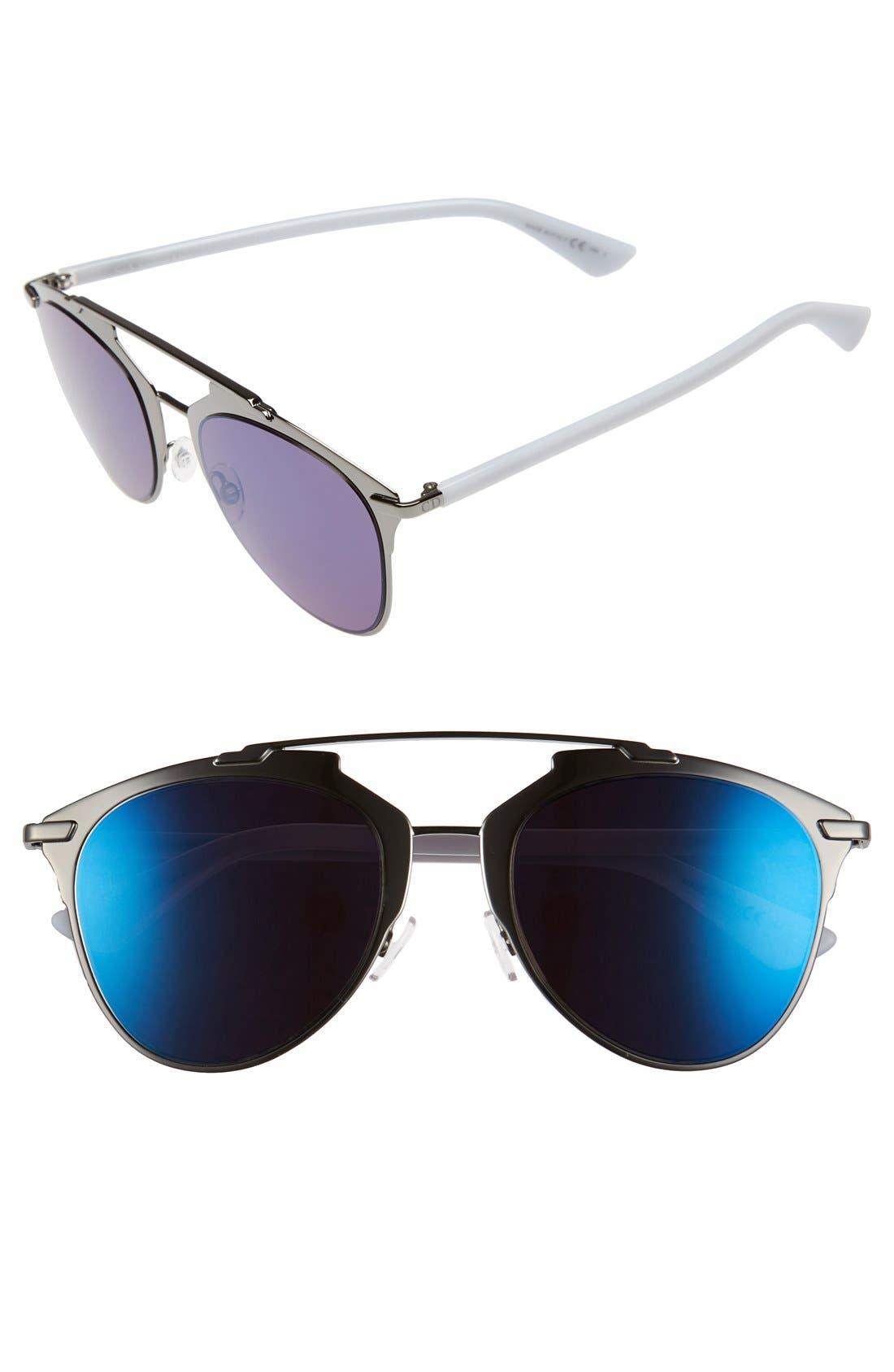 ,                             Reflected 52mm Brow Bar Sunglasses,                             Main thumbnail 13, color,                             046