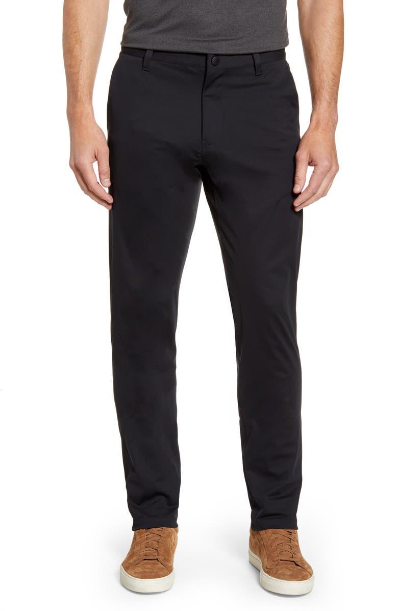 RHONE Commuter Slim Fit Pants, Main, color, BLACK