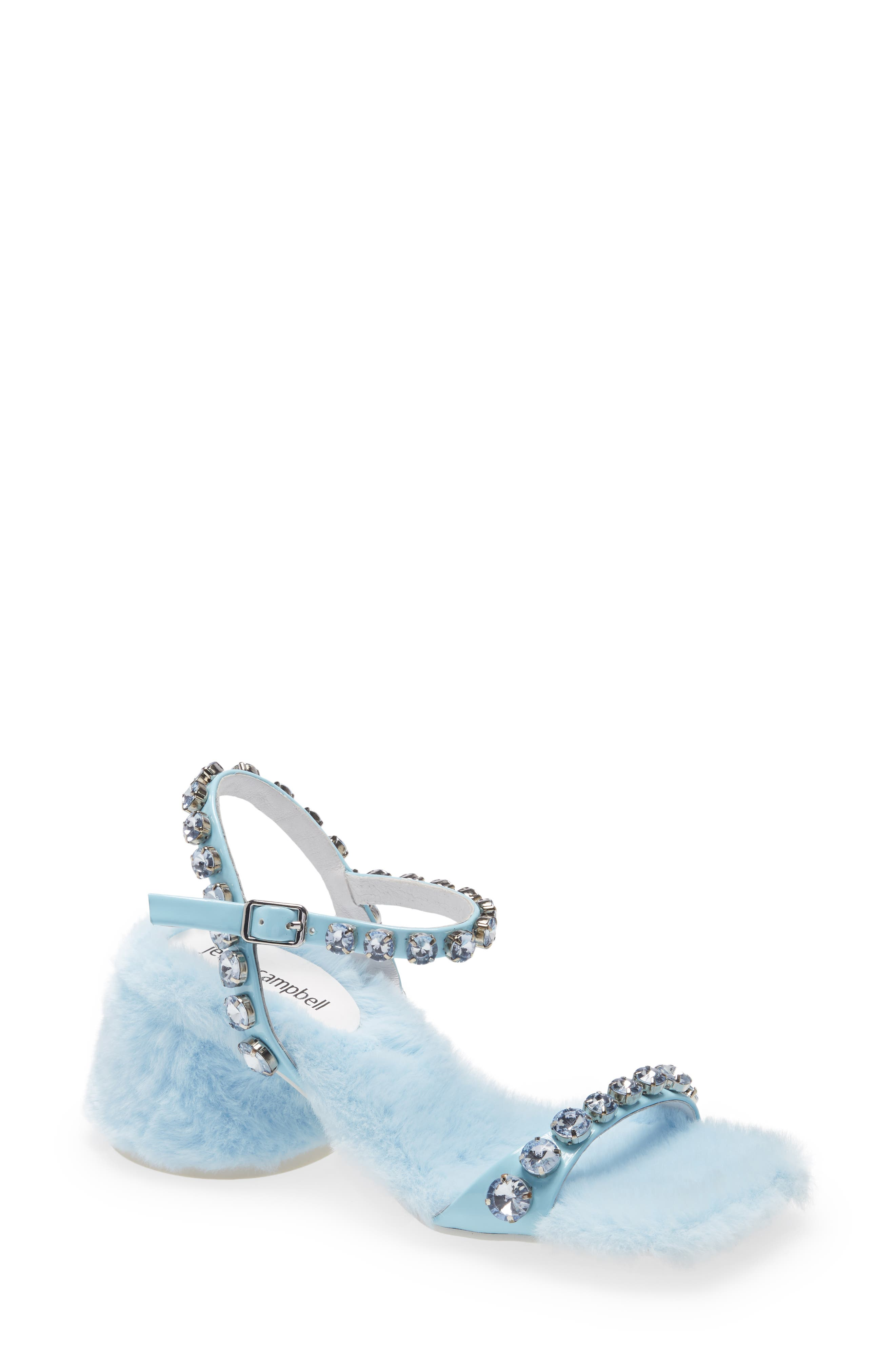 Lover Embellished Faux Fur Sandal