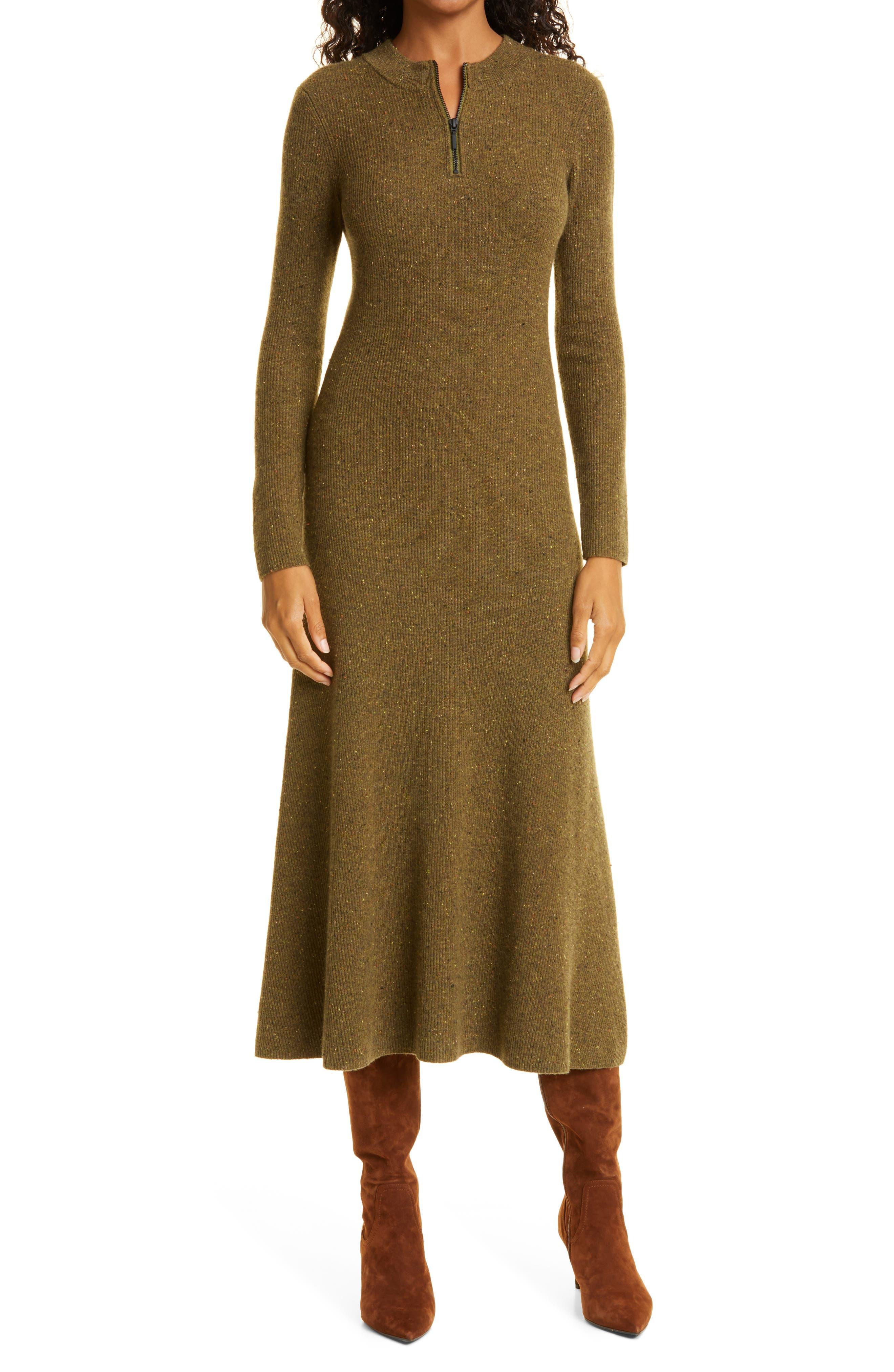 Women's Jason Wu Long Sleeve Cashmere Sweater Dress