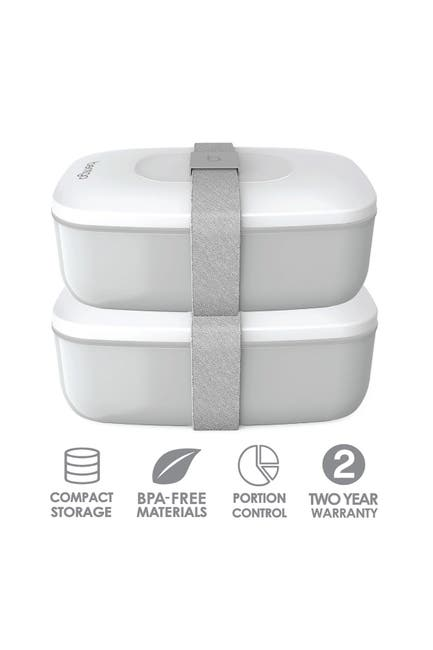 Image of BENTGO 2-Pack of Classic All-in-One Stackable Lunch Box Solution - Gray