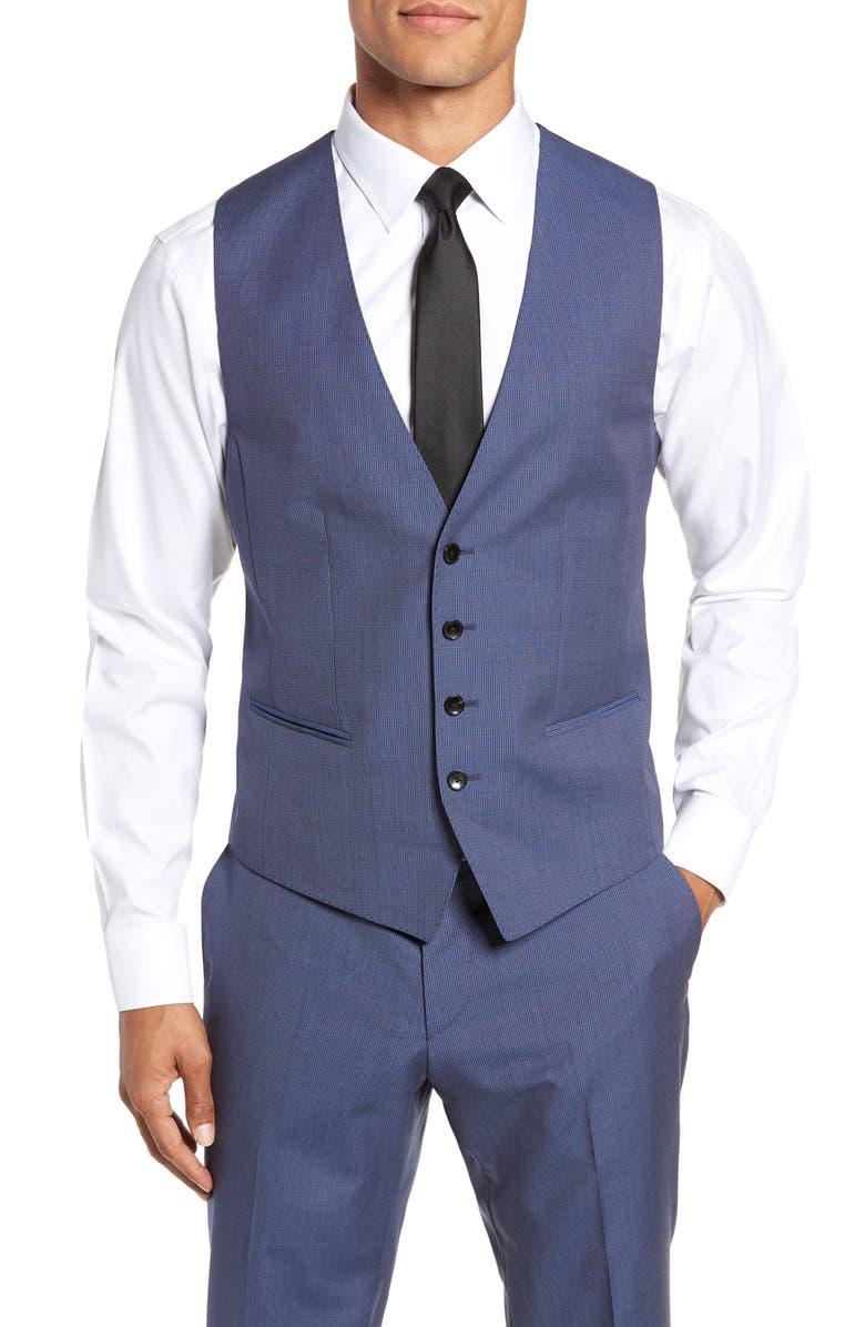 BOSS Huge/Genius Slim Fit Solid Three Piece Wool Suit, Main, color, 474