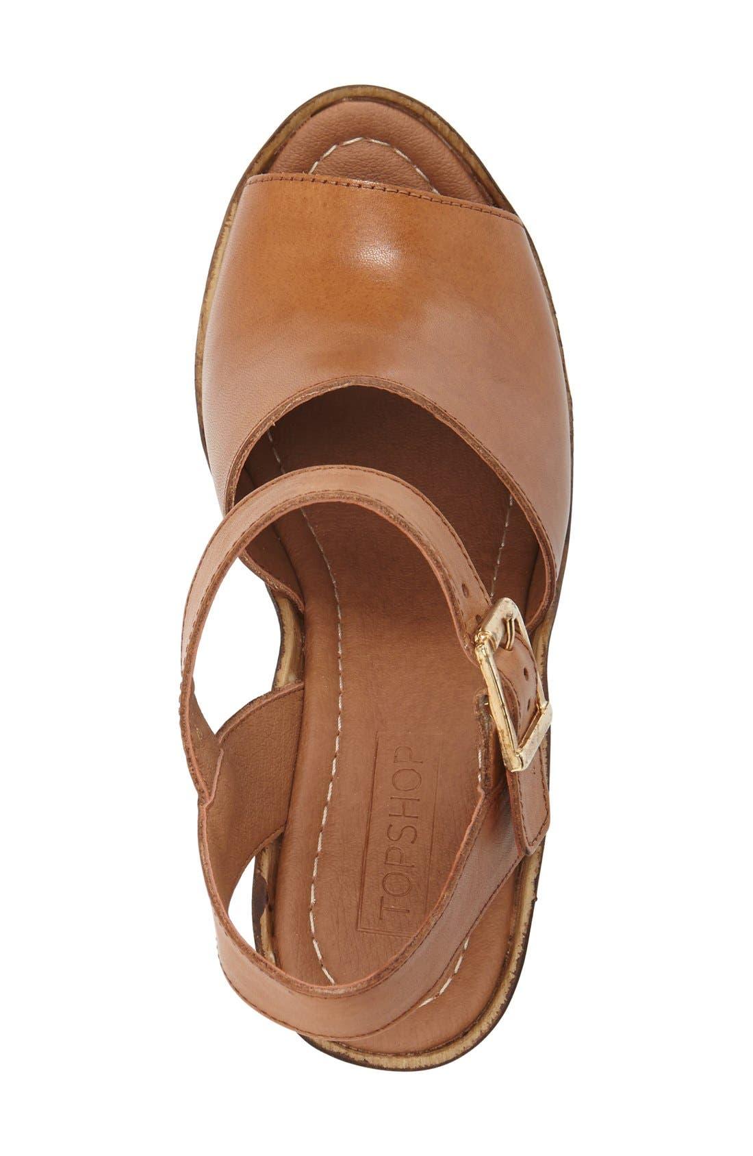 ,                             'Willow' Platform Wedge Sandal,                             Alternate thumbnail 4, color,                             210