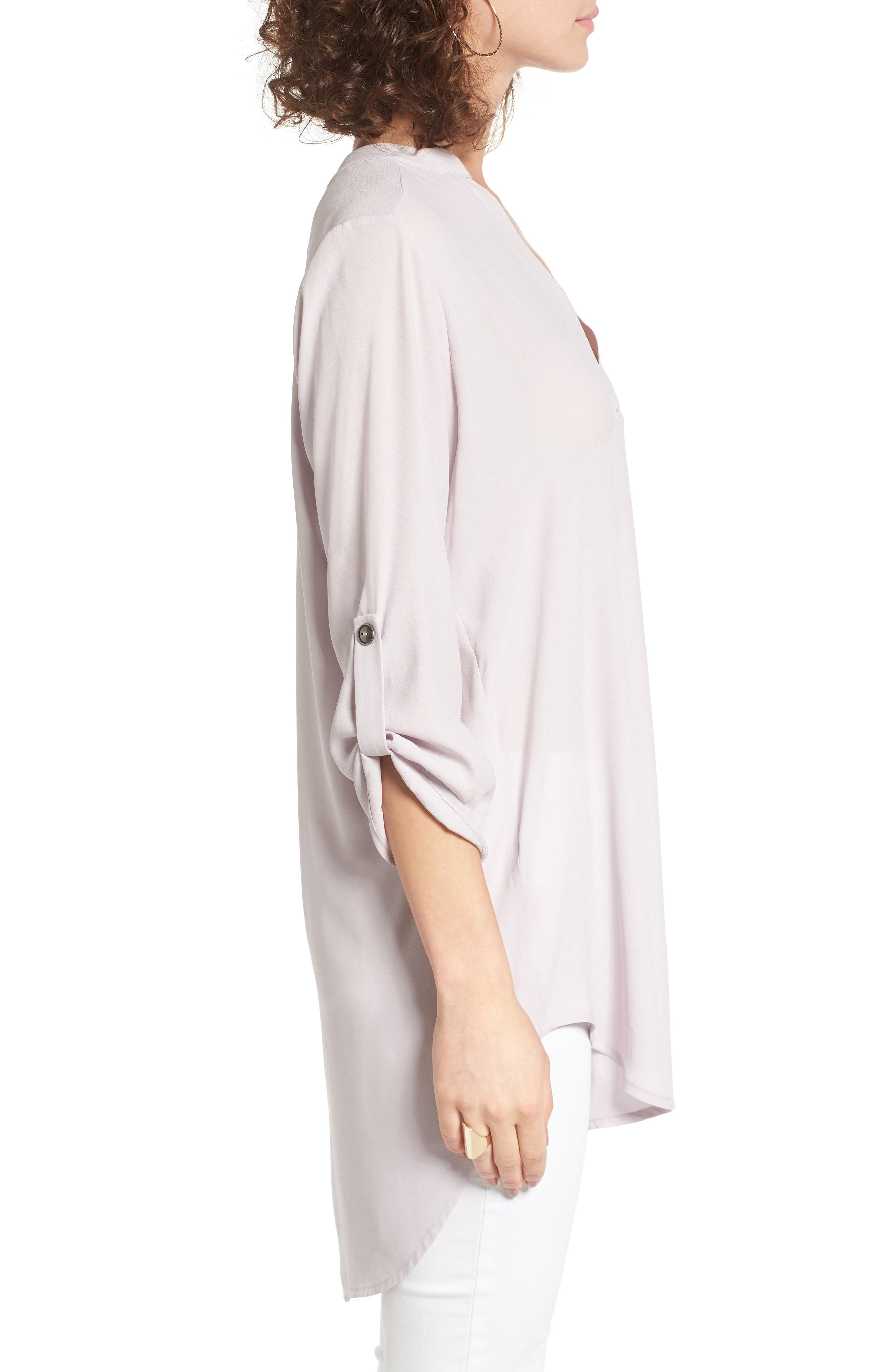 ,                             Perfect Roll Tab Sleeve Tunic,                             Alternate thumbnail 320, color,                             503