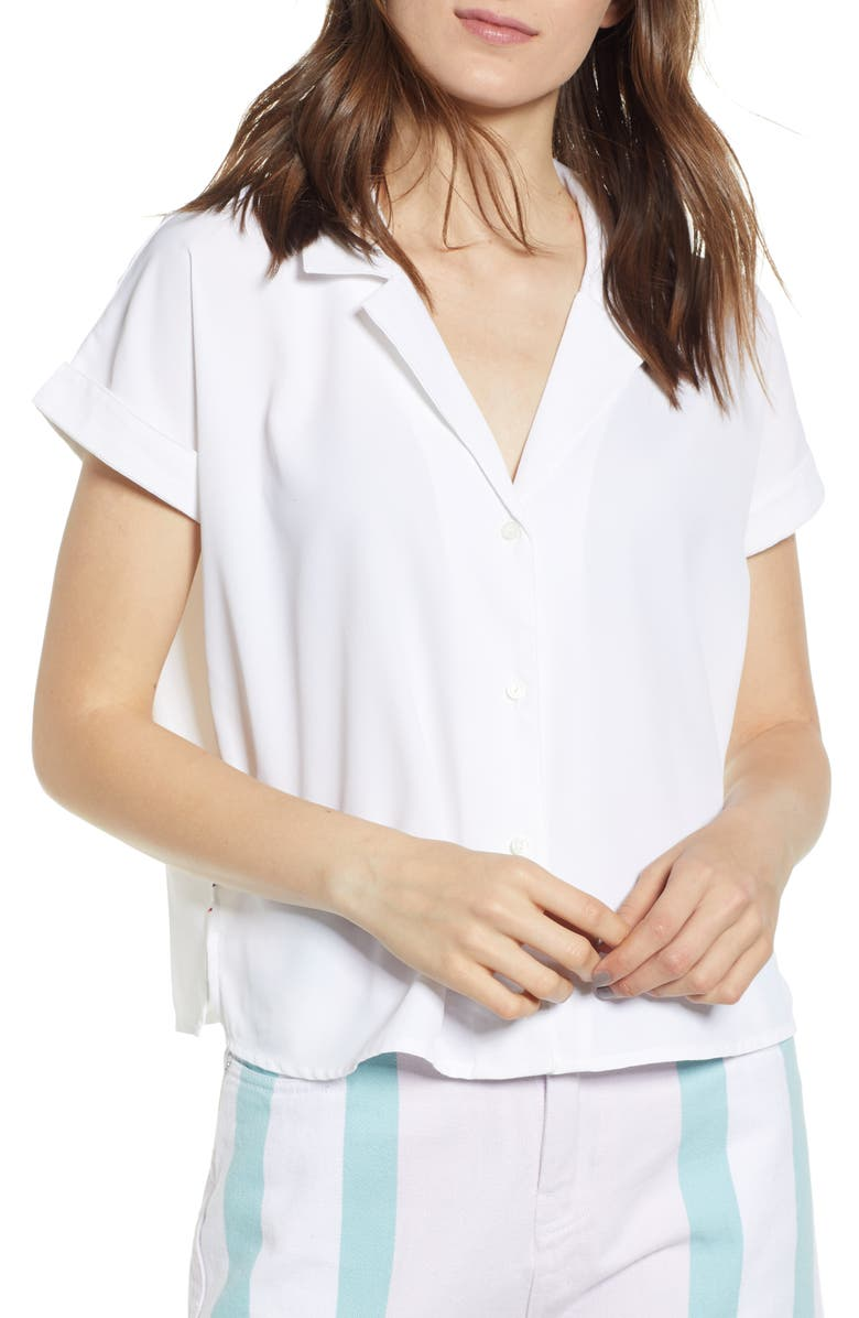 TOMMY JEANS Modern Blouse, Main, color, CLASSIC WHITE