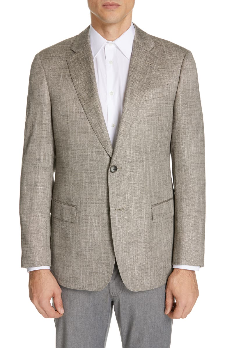 EMPORIO ARMANI Trim Fit Sport Coat, Main, color, 264