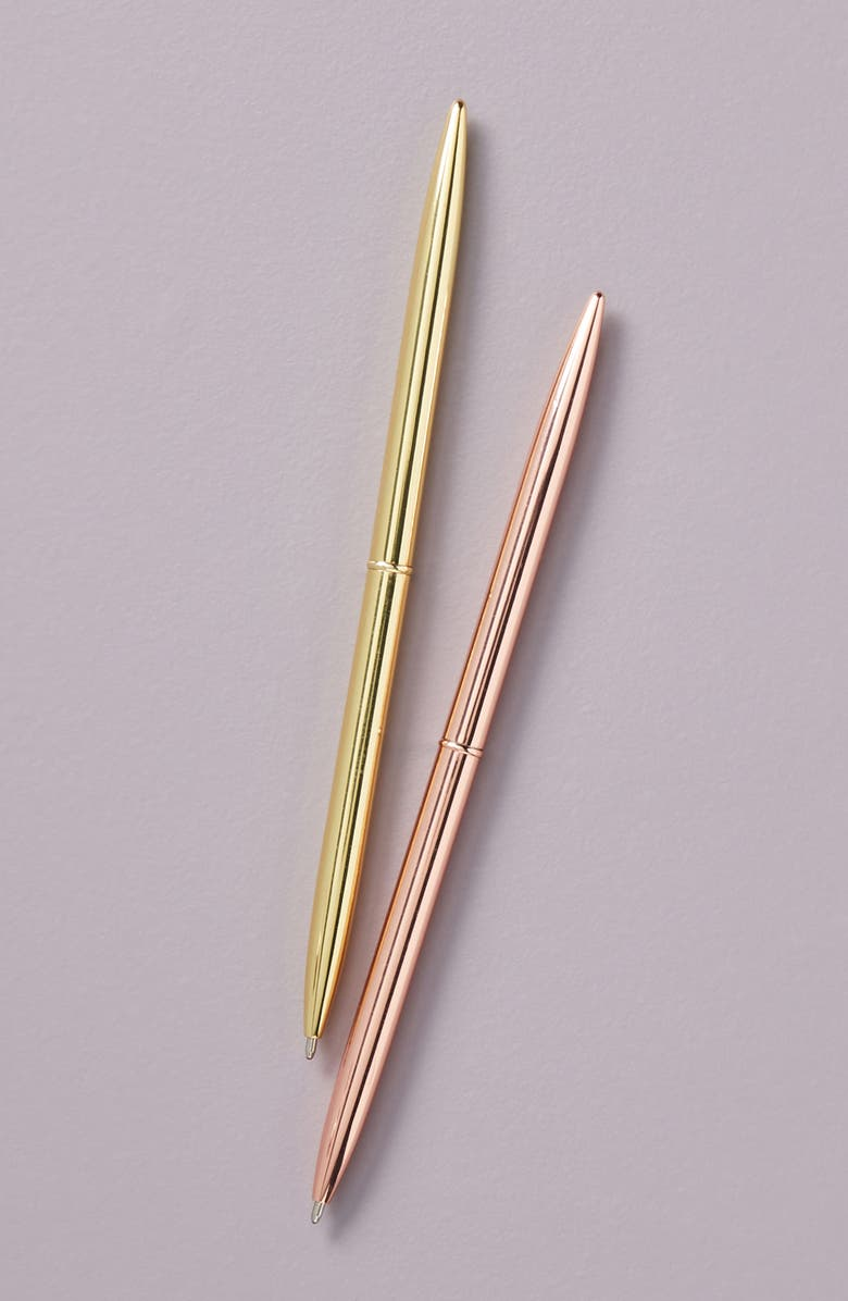 ANTHROPOLOGIE Riley Make Your Mark Set of 2 Pens, Main, color, PINK