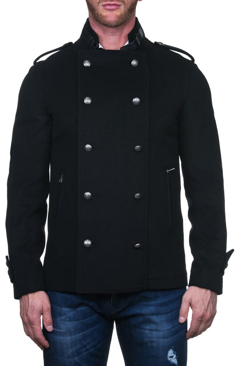 MACEOO Aristho Wool & Cashmere Peacoat, Main, color, 007