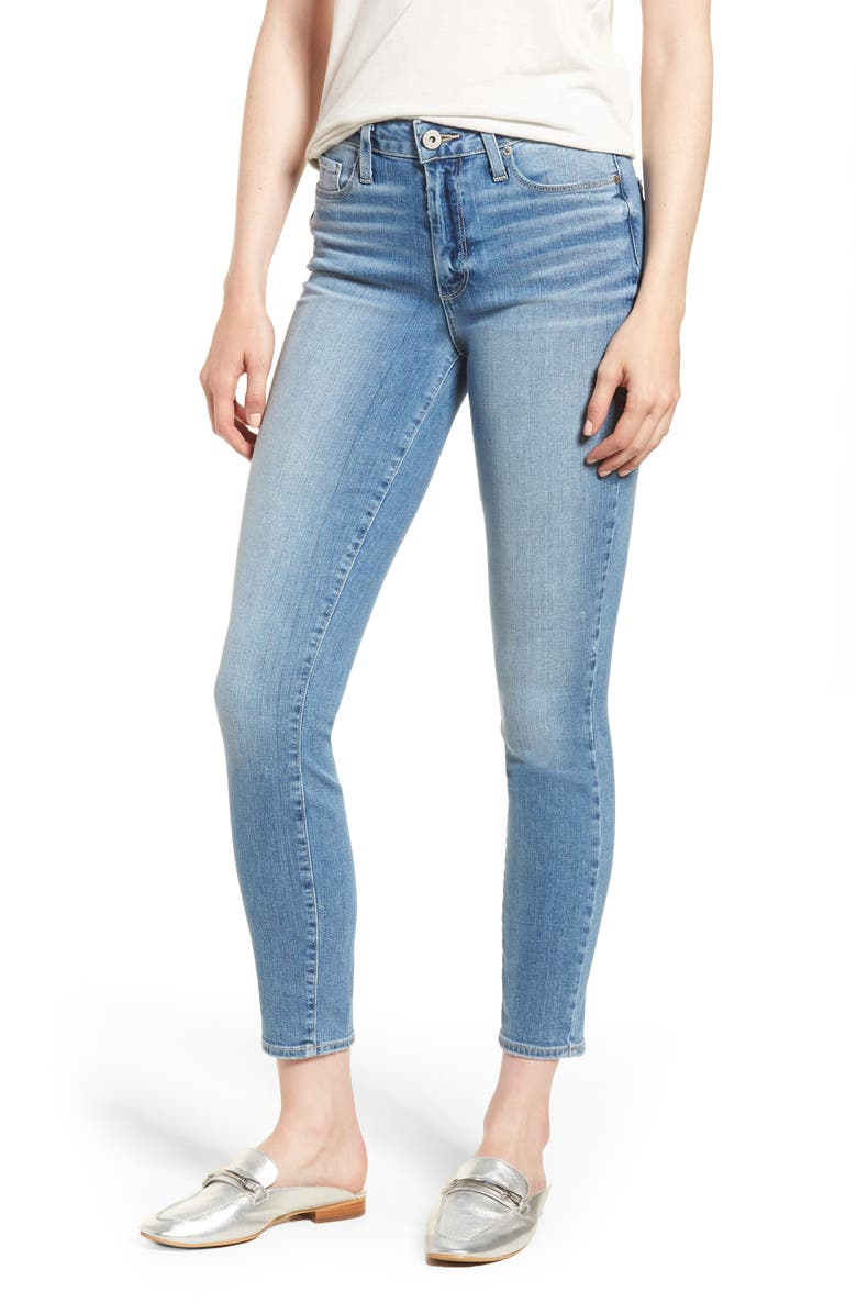 PAIGE Hoxton Distressed Ankle Jeans, Main, color, SOTO
