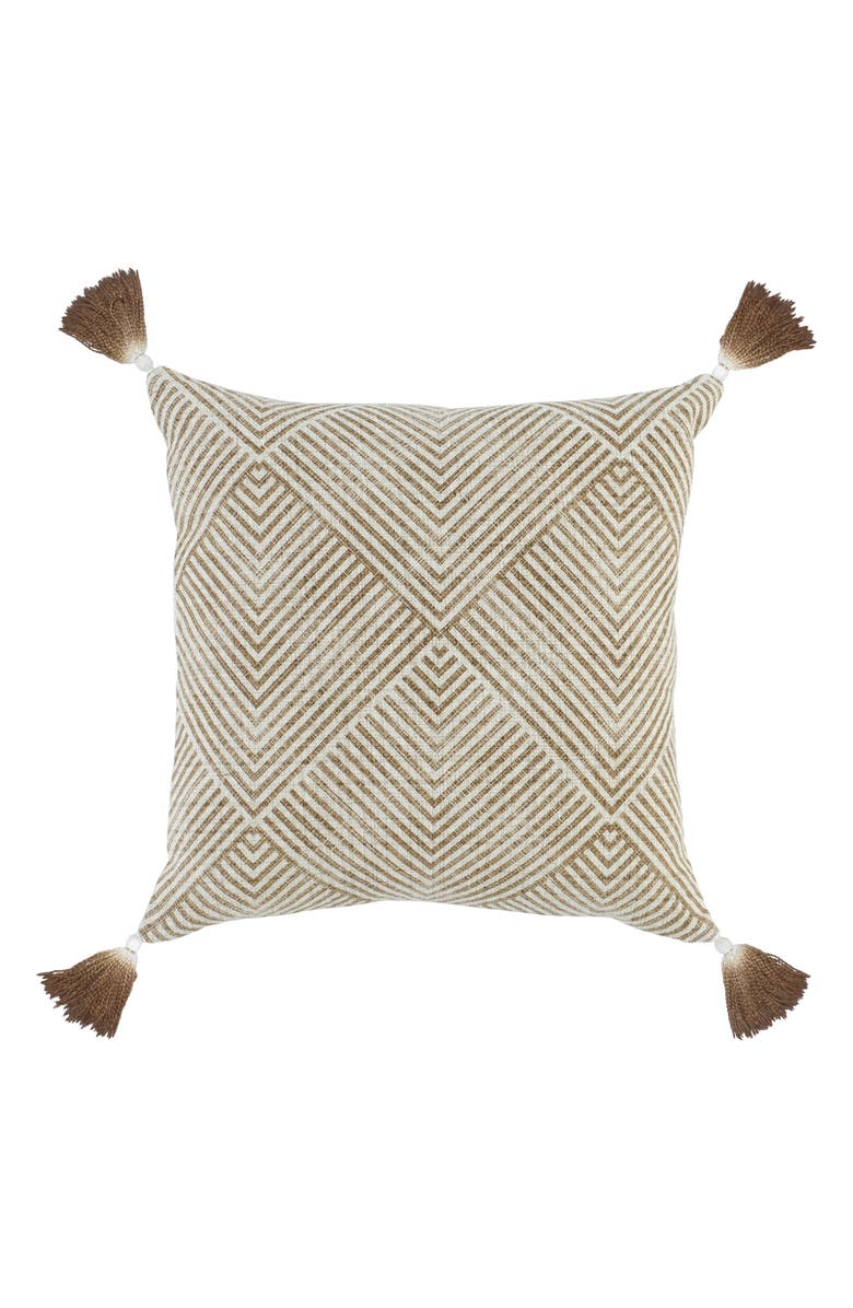 VILLA HOME COLLECTION Nature Willow Accent Pillow, Main, color, TOFFEE