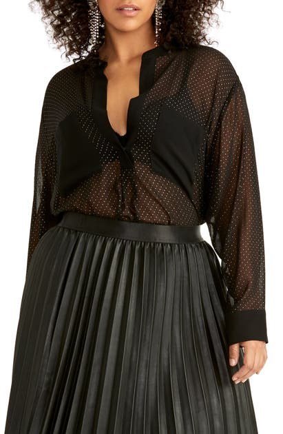 Rachel Rachel Roy T-shirts WINONA POLKA DOT SHEER SHIRT