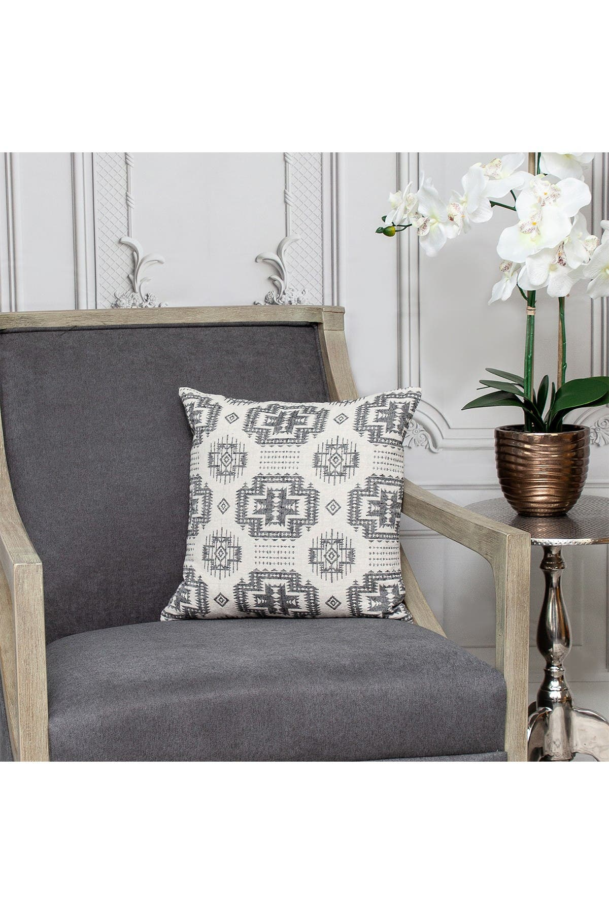 Image of Parkland Collection Sima Transitional Beige Throw Pillow