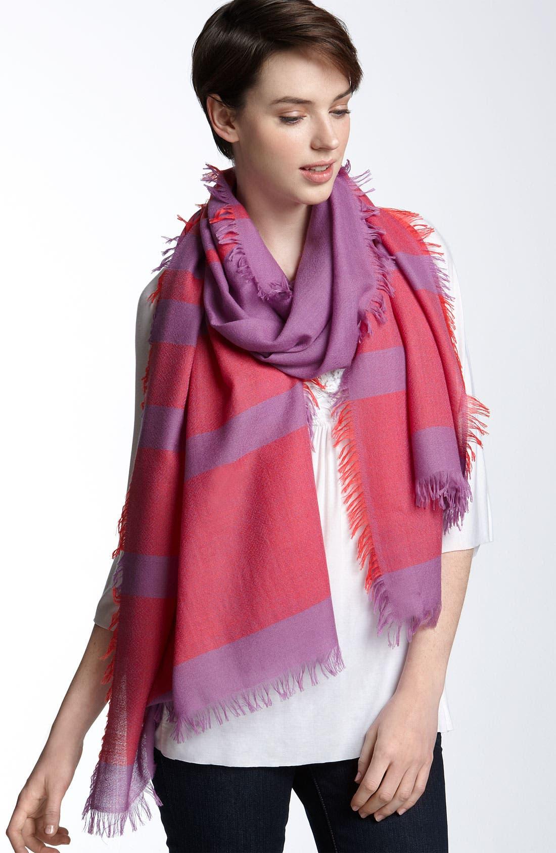 ,                             'Eyelash' Colorblock Cashmere Wrap,                             Main thumbnail 68, color,                             514