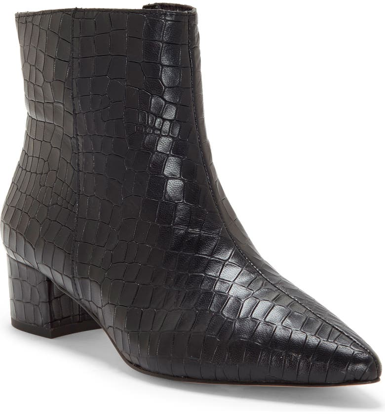 CC CORSO COMO<SUP>®</SUP> Freen Pointy Toe Bootie, Main, color, BLACK LEATHER