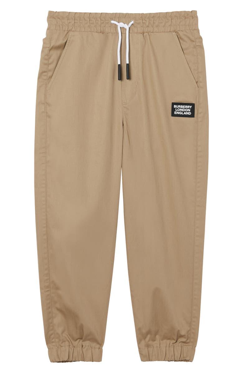 BURBERRY Dwayne Logo Patch Pants, Main, color, HONEY