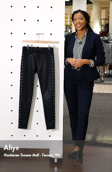 Sarah Studded Coated Ankle Skinny Jeans, sales video thumbnail