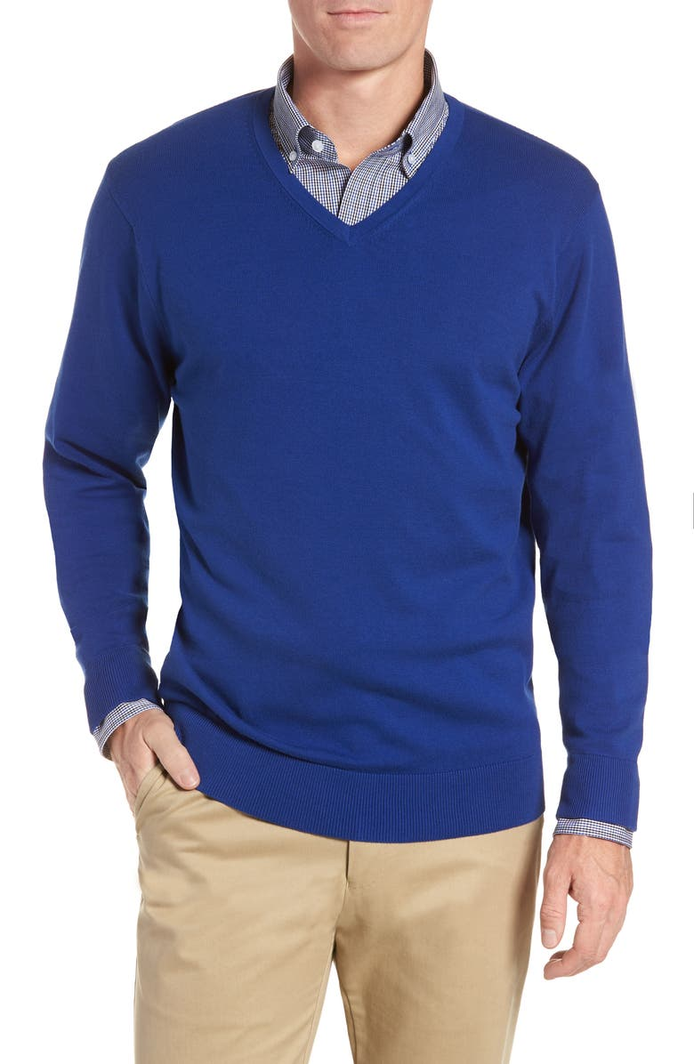 CUTTER & BUCK Lakemont V-Neck Sweater, Main, color, 419