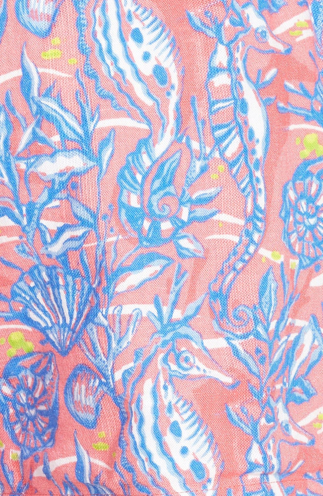 ,                             Seahorse Print Shorts,                             Alternate thumbnail 3, color,                             650