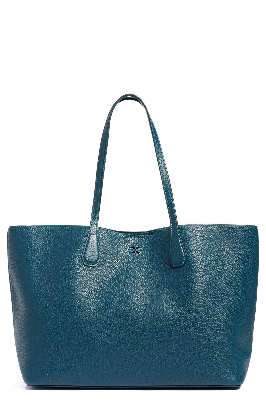 ,                             'Perry' Leather Tote,                             Main thumbnail 9, color,                             407