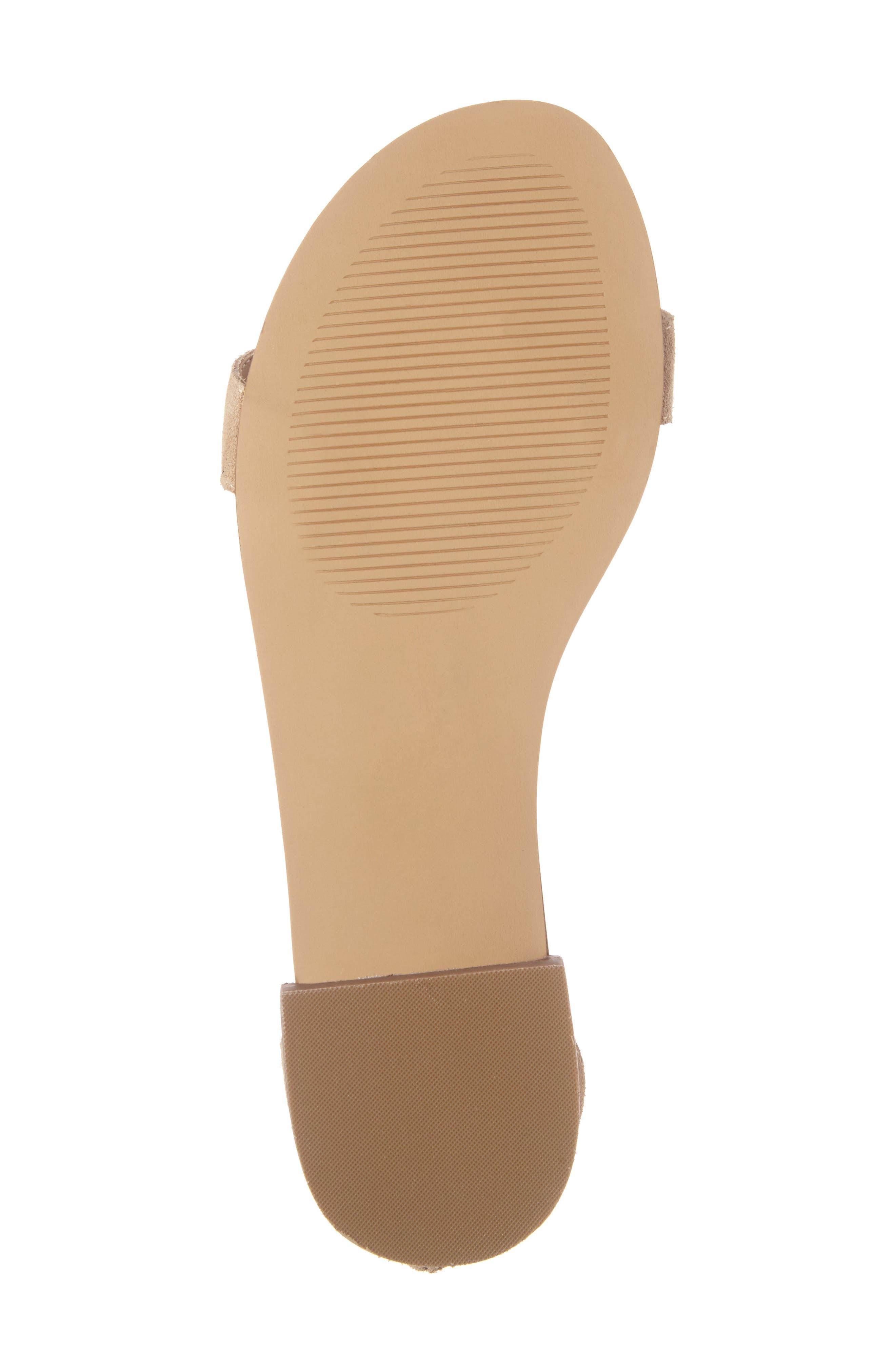 ,                             Koa Fringed T-Strap Sandal,                             Alternate thumbnail 6, color,                             200