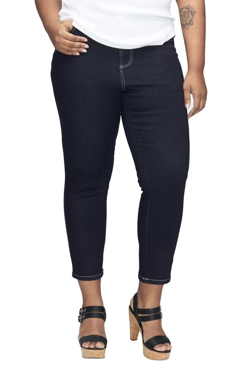 UNIVERSAL STANDARD Seine High Waist Skinny Jeans, Main, color, DARK INDIGO