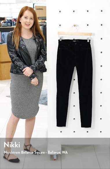 Barbara High Waist Velvet Super Skinny Jeans, sales video thumbnail