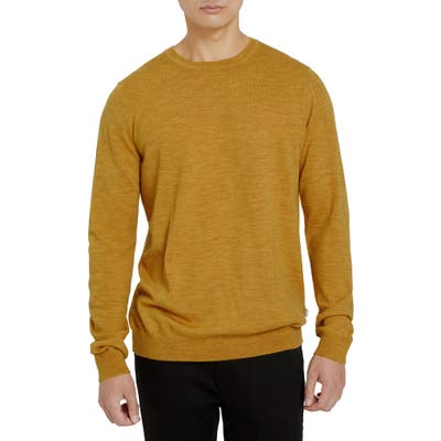 Frank And Oak Merino Crewneck Sweater, Yellow
