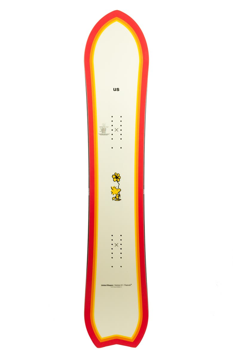 UNITED SHAPES x Peanuts<sup>®</sup> Snoopy Snowboard, Main, color, RED