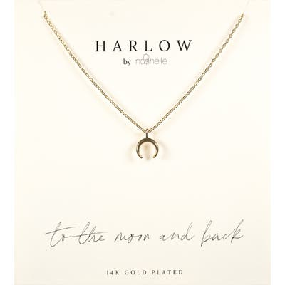 Harlow By Nashelle Crescent Moon Boxed Necklace
